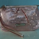 New York & Company Bronze Sequin Clutch