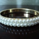 Faux Pearl Bangle Bracelet