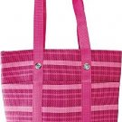 Pink Striped Beach Tote