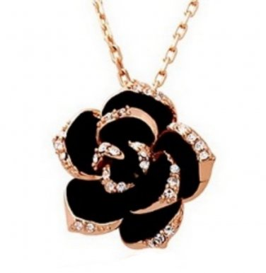 Swarovski Elements Crystal Flower Pendant Necklace