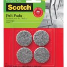 Scotch Heavy Duty Felt Pads 1.5 Inch 4-Pack