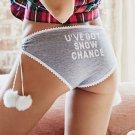 Victoria's Secret Pom-Pom Snow Chance Hiphugger Panty
