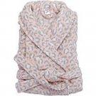 Cozy Light Pink Leopard Print Robe S/M