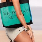 Victoria's Secret PINK Canvas Tote Teal/Blue