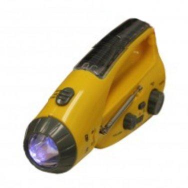 Tri-Powered Emergency Flashlight Radio