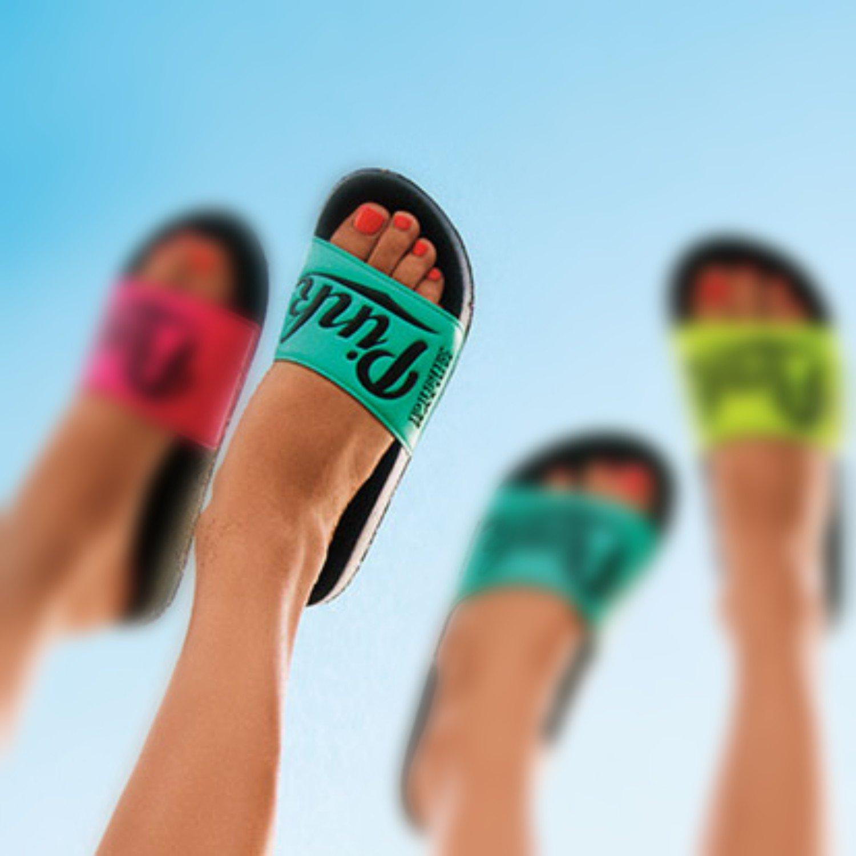 823a52587dce Victoria s Secret PINK Nation Slide Sandals Blue