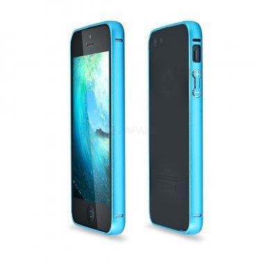 Metal Bumper Frame Case for iPhone 5/5s Metallic Blue