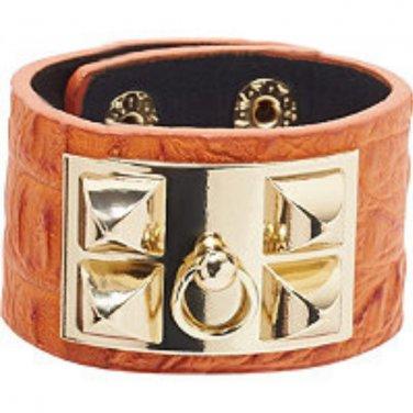 Faux Croc Cuff Bracelet