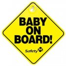 Safety 1st Yellow Baby On Board Sign