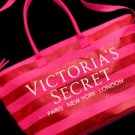 Victoria's Secret Striped Canvas Weekender Tote Bag