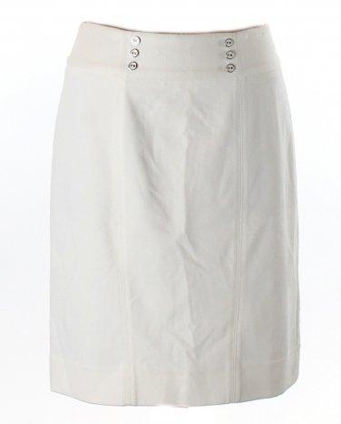 White House Black Market Winter White Ponte Pencil Skirt