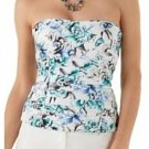 White House Black Market Blooming Seaside Floral Bustier Top