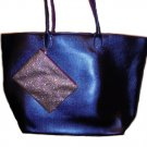 Bath & Body Works Navy Tote With Glitter Accessory Pouch