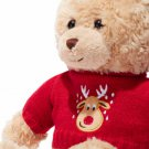 Plush Reindeer-Sweater Teddy Bear