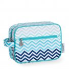 Chevron Stripe Seaside Cosmetic Bag