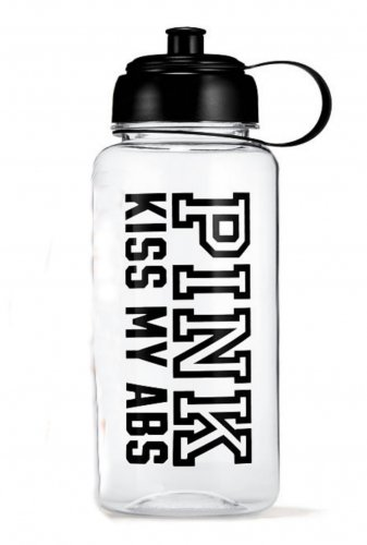 Victoria's Secret PINK Water Bottle Kiss My Abs