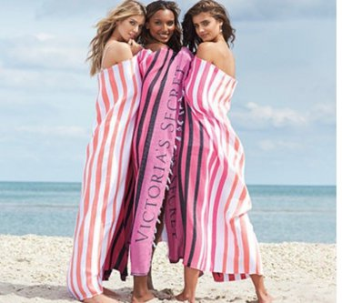 Victoria's Secret Limited Edition Striped Beach Blanket
