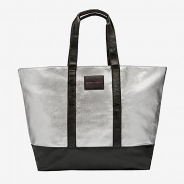 Victoria's Secret Limited Edition Metallic Silver Getaway Weekender