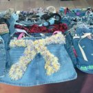 HOT Ladies Designs One of a kind Hand Made Denim Jean Purses -- Made in USA