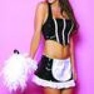 3 pcs vinyl french maid costume /