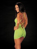 2 pc cross back chemise dress set (glows under blacklight)*