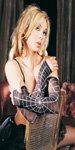 Opaque spider web arm warmer