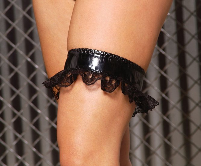 vinyl leg garter