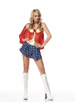 2 pc wonder girl costume