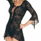 2 pc lace flair sleeves dress g string