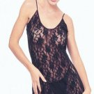 Rose lace chemise with g- string
