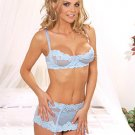 embroidered mesh underwire bra with adj straps n back hook n eye closure
