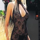 2 pc lace dress with keyhole and g string
