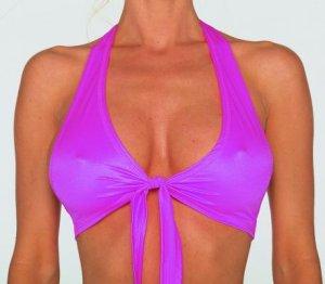 Tie front halter top