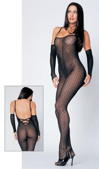 Mini daisy lace up back bodystocking