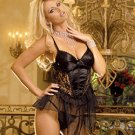 Fancy babydoll with a satin lycra front lace trim