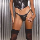 Leather corset with o ring boning and velcro halter neck with velcro closure
