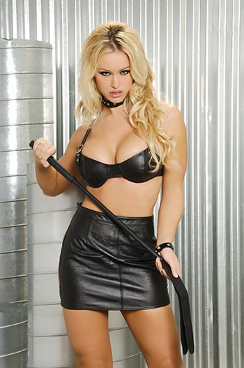 underwire leather bra with buckle straps and adj back hook and eye closure
