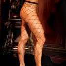Seamless lycra diamond net pantyhose