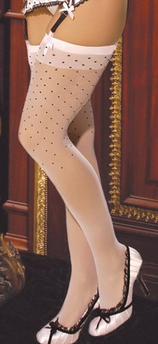 Polk a dot thigh high stockings