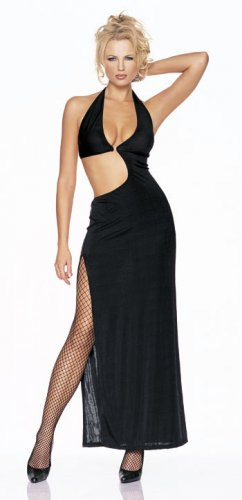 Slinky halter long dress