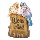 #12534 Blessing Birds Solar Statue