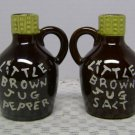 Vintage Handpainted Little Brwon  Jug Salt and Pepper set Tilso Japan