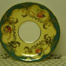 AYNSLEY  Saucer-C555-Green/Cream/Gold
