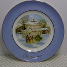 "Avon Christmas Plate Series Fifth Edition ""Carollers in the Snow"" 1977 Wedgewood"