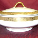 HAVILAND Limoges china Schleiger 623 Gold Encrusted pattern Vegetable Covered Bowl