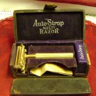 Vintage Auto Strop Safety Razor Leather case