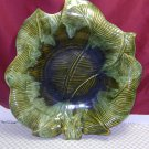 Vintage  Maurice of California USA Pottery Leaf Dish