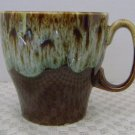 Vintage Brown Drip Coffee Mugs Pottery Cup USA