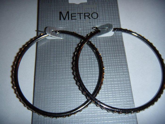 Fashion Jewelry Diamond Hoop Earrings