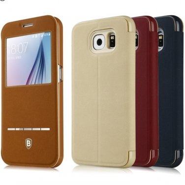 Samsung Galaxy S6 Leather Flip Case
